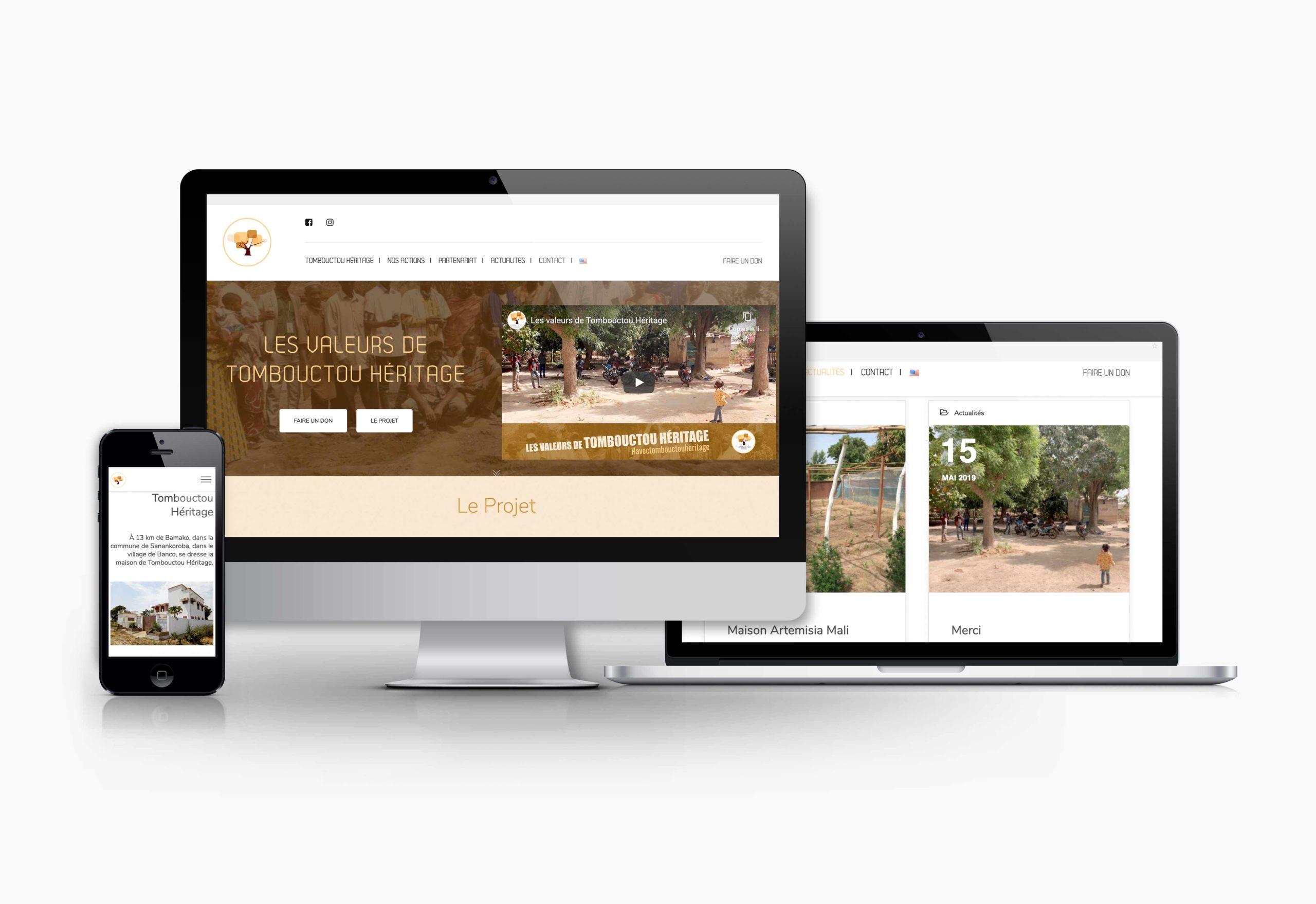 Site internet Tombouctou Héritage